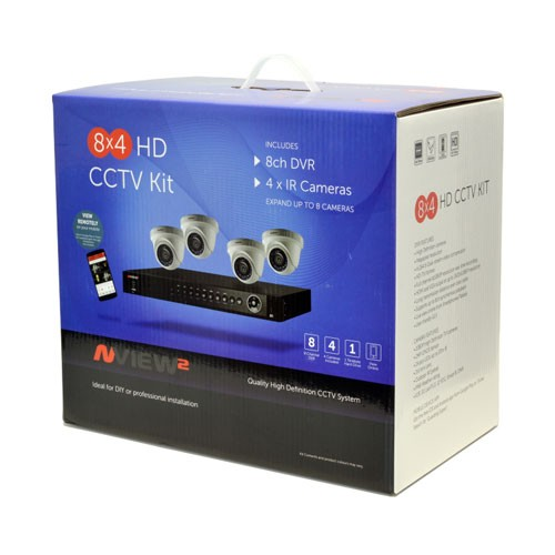 Ness Full HD CCTV Camera Kit 1080P 8 Channel 4 Cameras