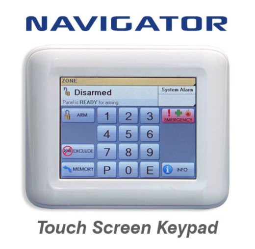 Ness NAVIGATOR TOUCH SCREEN KEYPAD for Security Alarm