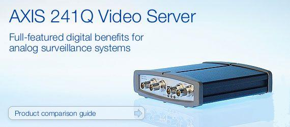 AXIS 241Q 4Ch Video Server - migrate analog into IP surveillance