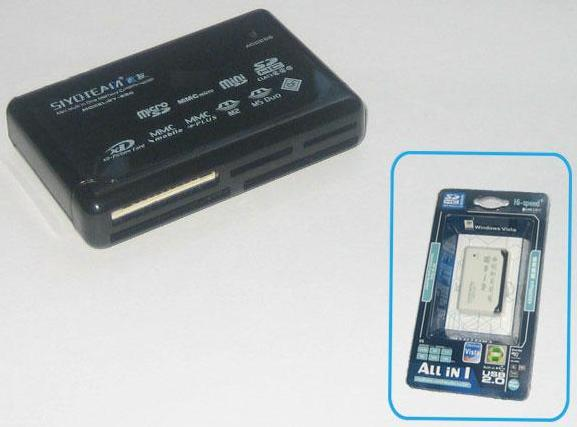 USB 2.0 Multi Card Reader All in One