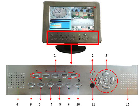 "4CH DVR with 10"" LCD Integrated Video Door Phone Intercom"