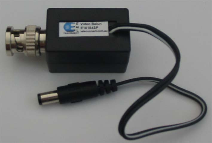 EQL BNC Male Video Balun power Through 2.1MM Plug E10184SP