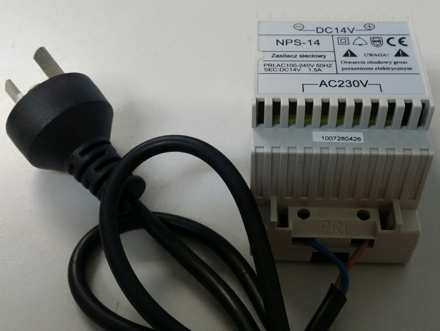 Futuro AC240V DC14V 1.5A Access Control Power Supply
