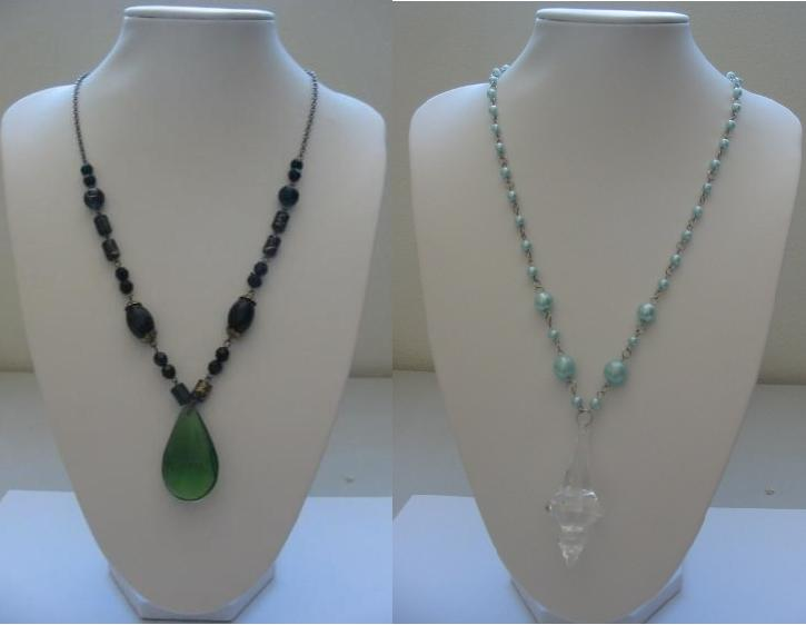 2 x Brand New Elegant Necklace with Pendant
