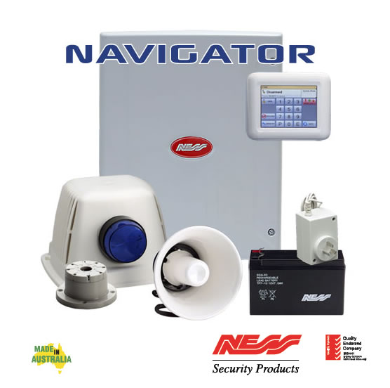 NESS D8XD DELUXE NAVIGATOR SECURITY ALARM PANEL KIT