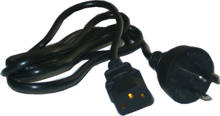 AC Power Cables to suit most PC's, Monitors, Scanners, PS3, Xbox