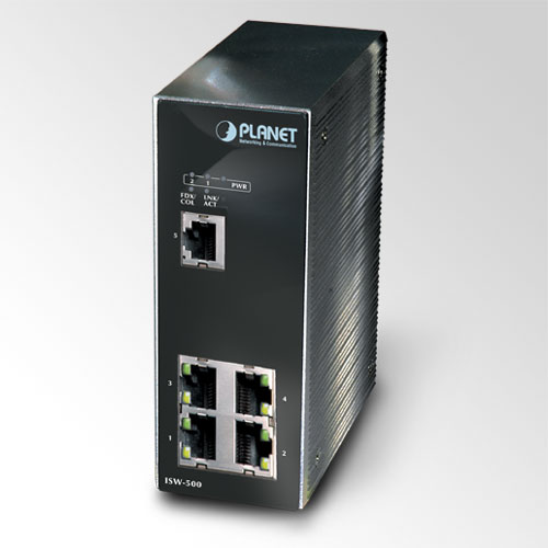 Planet 5-Port Industrial Ethernet Switch