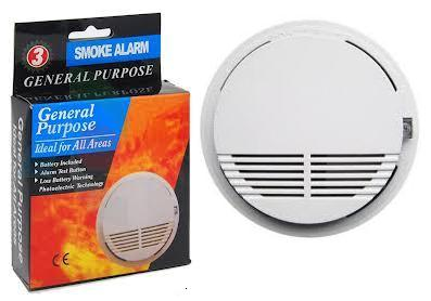 Wireless Photoelectric Smoke Detector Alarm