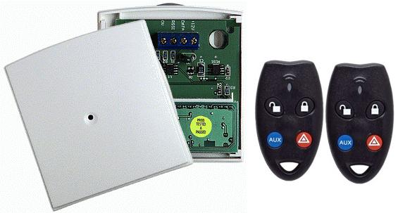 Ness Wireless Keyfob & Radio Interface Receiver & 2 x RK4 Remote - Click Image to Close